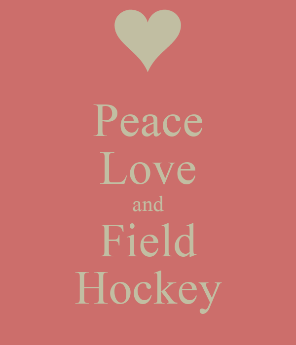 Blue Peace Love Field Hockey iPhone 5 ampamp 5S  Fits