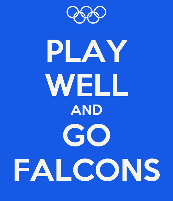 play well and go falcons poster carmen keep calm o matic. Black Bedroom Furniture Sets. Home Design Ideas