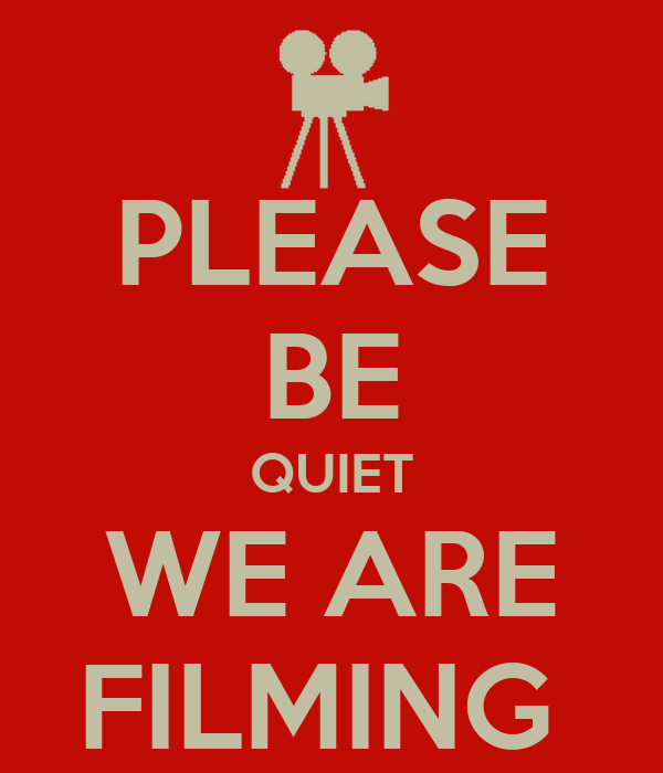 please be quiet we are filming poster sharks keep calm o matic