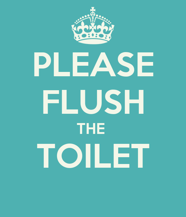Flush the toilet signs