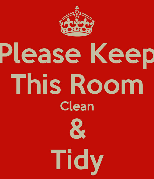 Please Keep This Room Clean Tidy Poster Cesar Keep