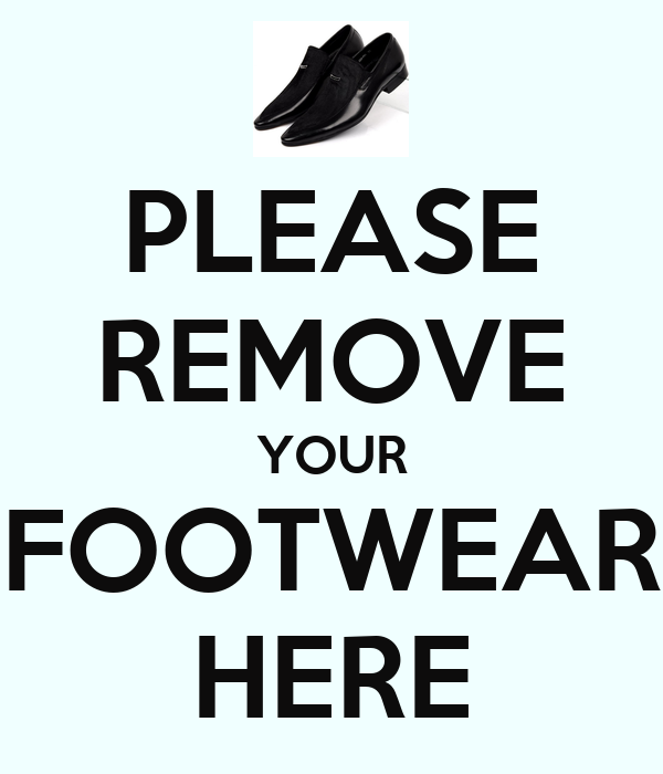 Remove Shoes Sign Uk