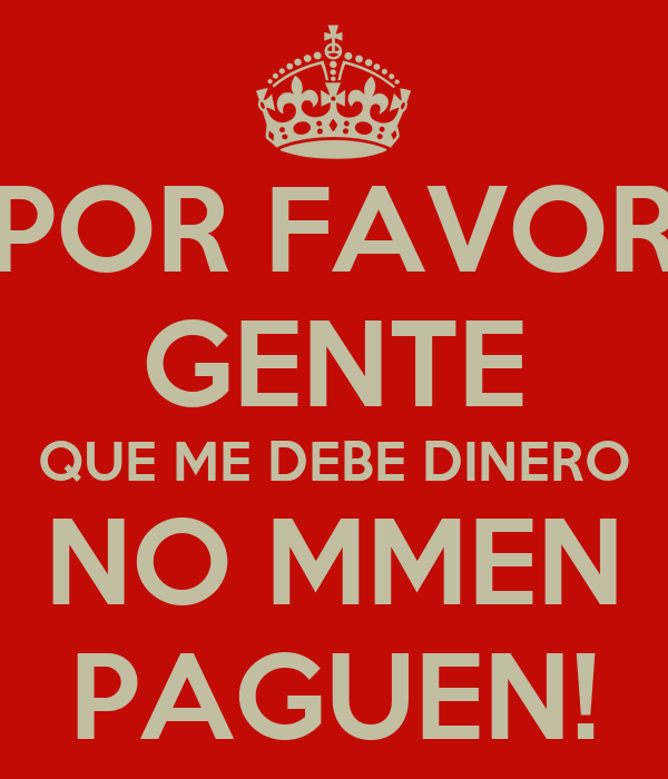 dinero por favor: