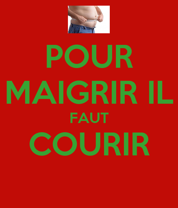 pour maigrir il faut courir keep calm and carry on image generator