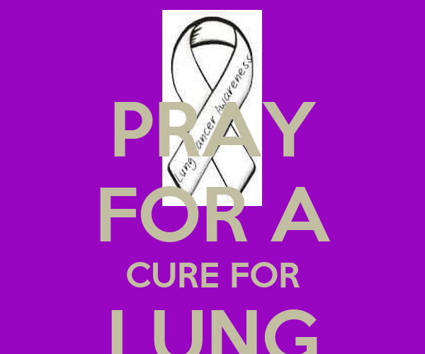 pray for a cure for lung cancer poster becky keep calm o matic. Black Bedroom Furniture Sets. Home Design Ideas