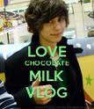 LOVE CHOCOLATE MILK VLOG - Personalised Poster large