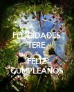 FELICIDADES TERE Y FELIZ CUMPLEAÑOS - Personalised Poster large