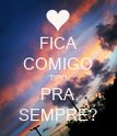 FICA COMIGO TIPO PRA SEMPRE? - Personalised Large Wall Decal