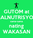 GUTOM at MALNUTRISYON sama-sama nating WAKASAN - Personalised Poster large