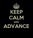 KEEP CALM AND ADVANCE   - Personalised Poster large