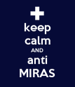 keep calm AND anti MIRAS - Personalised Poster large