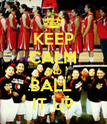 KEEP CALM AND BALL  IT UP - Personalised Poster large
