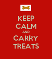KEEP CALM AND CARRY TREATS - Personalised Poster large