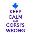 KEEP CALM AND CORSI'S WRONG - Personalised Poster large