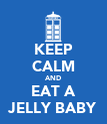 KEEP CALM AND EAT A JELLY BABY - Personalised Poster large
