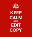 KEEP CALM AND EDIT COPY - Personalised Poster large