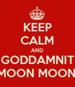 KEEP CALM AND GODDAMNIT MOON MOON! - Personalised Poster large