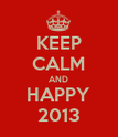 KEEP CALM AND HAPPY 2013 - Personalised Poster large