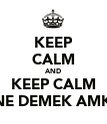 KEEP CALM AND KEEP CALM NE DEMEK AMK - Personalised Poster large