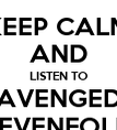 KEEP CALM AND LISTEN TO AVENGED SEVENFOLD - Personalised Poster large