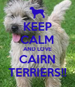 KEEP CALM AND LOVE CAIRN TERRIERS!! - Personalised Poster large