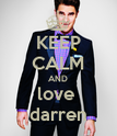 KEEP CALM AND love  darren - Personalised Poster large