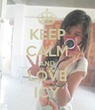 KEEP CALM AND LOVE ICY - Personalised Poster large