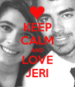 KEEP CALM AND LOVE JERI - Personalised Poster large