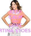 KEEP CALM AND LOVE MARTINA STOESSEL - Personalised Poster large