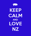 KEEP CALM AND LOVE NZ - Personalised Poster large