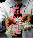 KEEP CALM AND PAY ME - Personalised Poster large