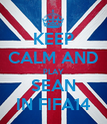 KEEP CALM AND PLAY SEAN IN FIFA14 - Personalised Poster large