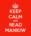 KEEP CALM AND READ MANKIW - Personalised Poster large