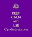 KEEP CALM AND USE CyndisList.com - Personalised Poster large