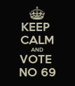 KEEP  CALM AND VOTE  NO 69 - Personalised Poster large
