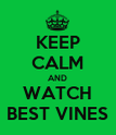 KEEP CALM AND WATCH BEST VINES - Personalised Poster large