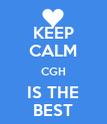KEEP CALM CGH IS THE BEST - Personalised Poster large
