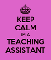 KEEP CALM I'M A TEACHING ASSISTANT - Personalised Poster large