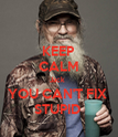 KEEP CALM Jack  YOU CAN'T FIX  STUPID  - Personalised Poster large