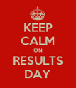 KEEP CALM ON RESULTS DAY - Personalised Poster large