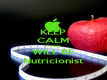 KEEP CALM people WILL BE Nutricionist - Personalised Poster large