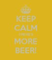 KEEP CALM THERE'S MORE BEER! - Personalised Poster large
