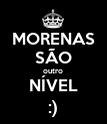 MORENAS SÃO outro NÍVEL :) - Personalised Poster large