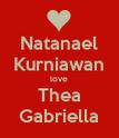 Natanael Kurniawan love Thea Gabriella - Personalised Poster large