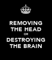 REMOVING THE HEAD OR DESTROYING THE BRAIN - Personalised Poster large