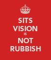 SITS VISION IS NOT RUBBISH - Personalised Poster large