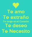 Te amo Te extraño Te tengo en el Corazón Te deseo Te Necesito - Personalised Poster large