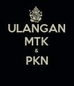 ULANGAN MTK & PKN  - Personalised Poster large