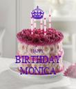 HAPPY  BIRTHDAY MONICA - Personalised Tea Towel: Premium