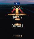 HAPPY  DIWALI  - Personalised Tea Towel: Premium